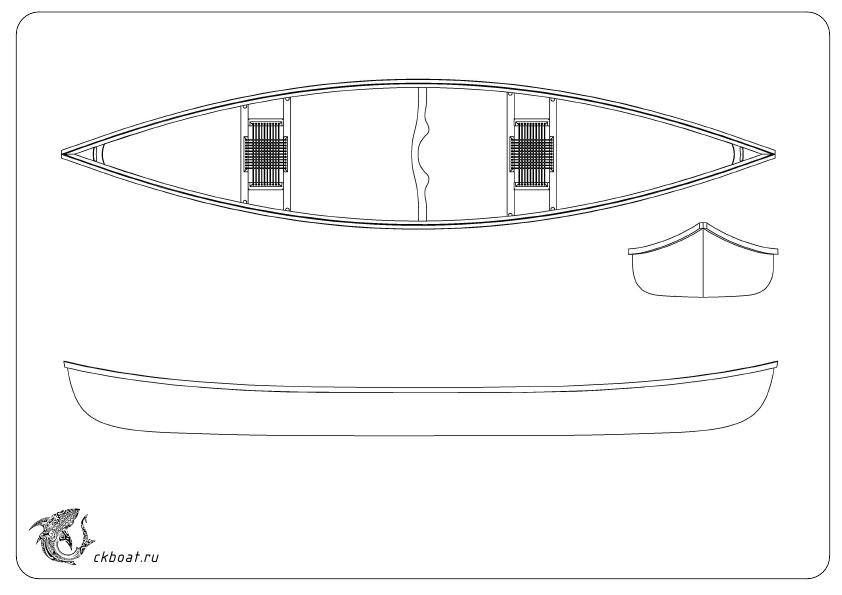 Сделать лодку чертеж Каноэ Миус