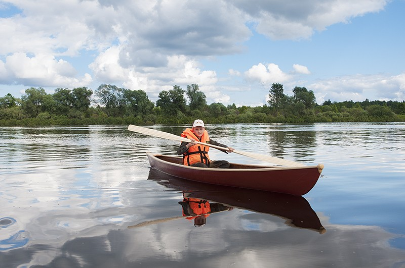 Каноэ Rob Roy на воде