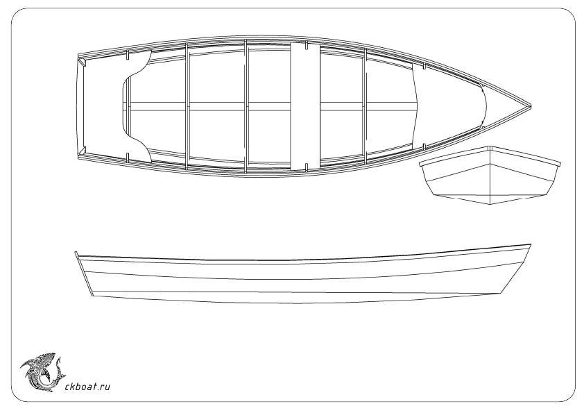 Чертеж лодки из фанеры Щука