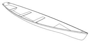 чертеж гребной лодки Annapolis Wherry общий вид