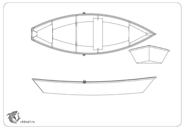 Чертеж фанерной лодки Пола