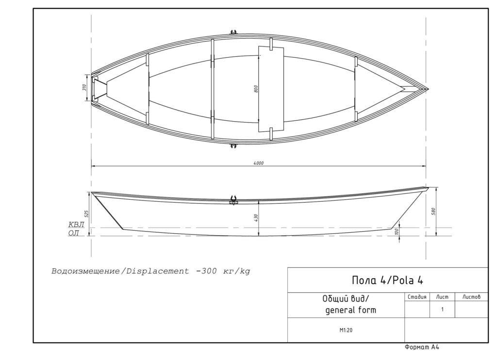 Фанерная лодка Пола