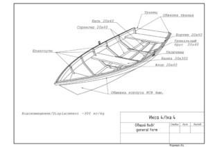 Общий вид лодки Икса