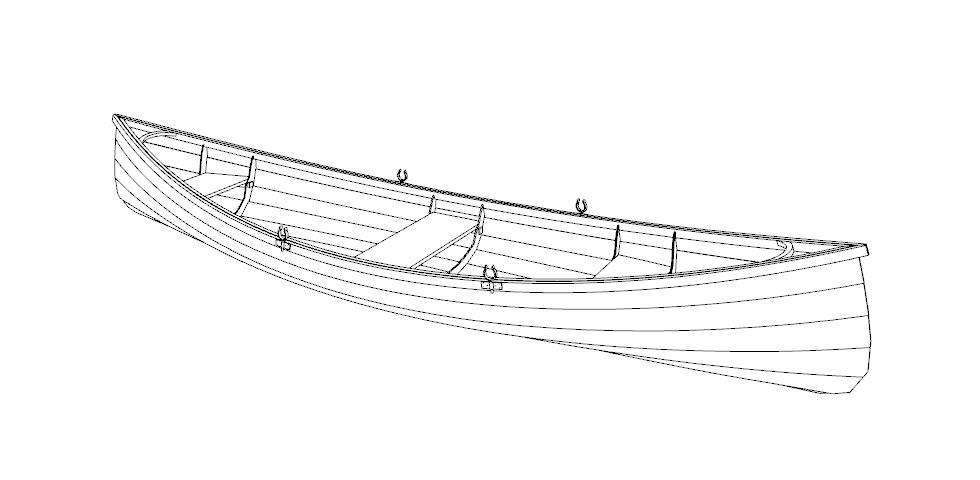 Выкройки и чертеж лодки Адирондак