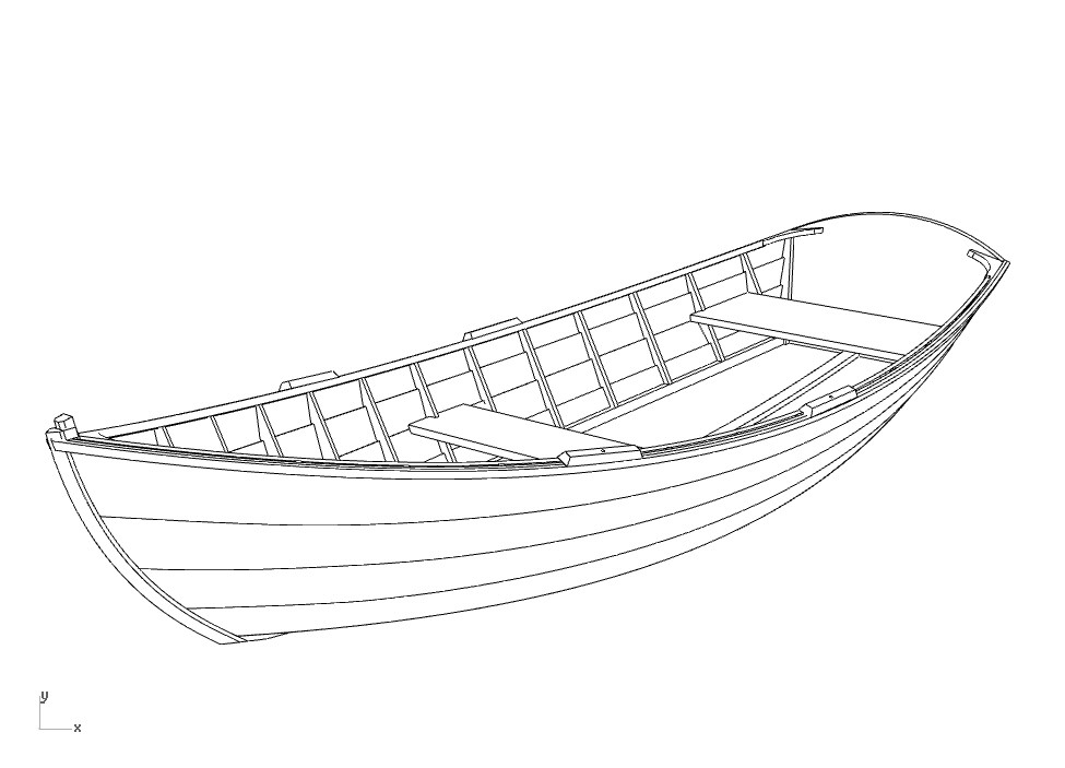 чертеж деревянной лодки