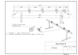 Схема стапеля лодки Илм