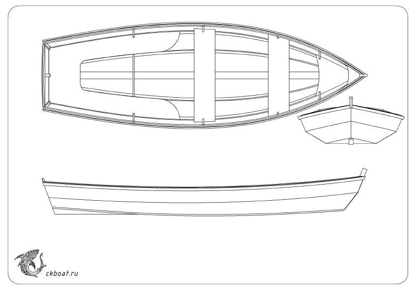 Чертеж самодельной лодки Илм