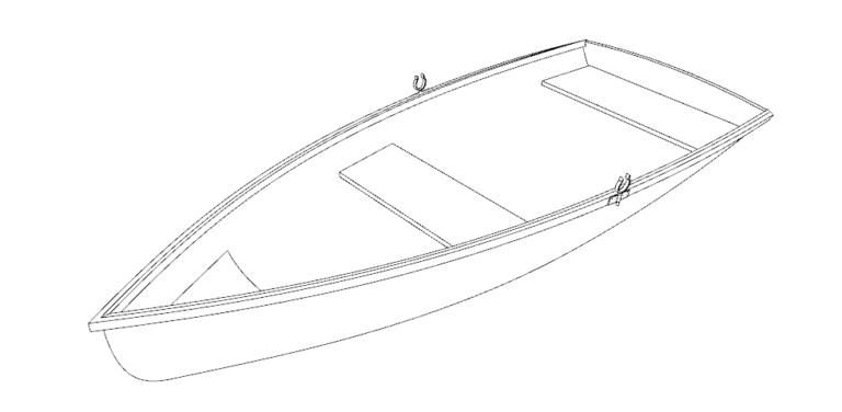 Чертеж гребной лодки Лизхен