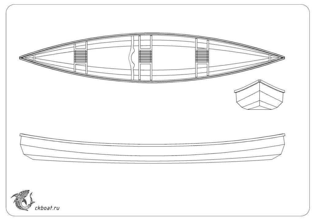 Каноэ из фанеры чертежи лодки Ривер
