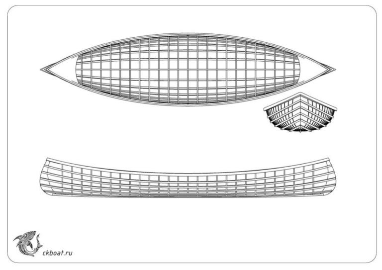 Лодка Адирондак по технологии SoF
