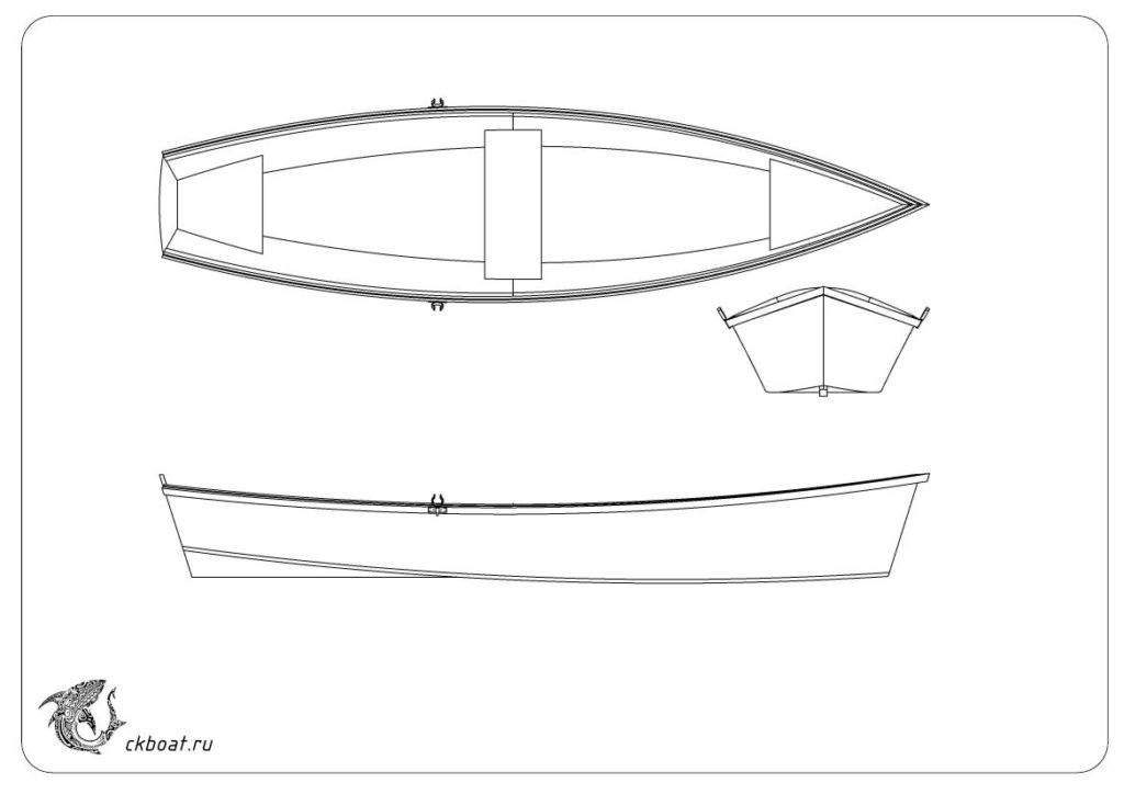 Лодка из фанеры своими руками Скифф Мартин