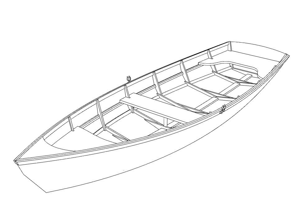 Чертежи лодки из фанеры Щука