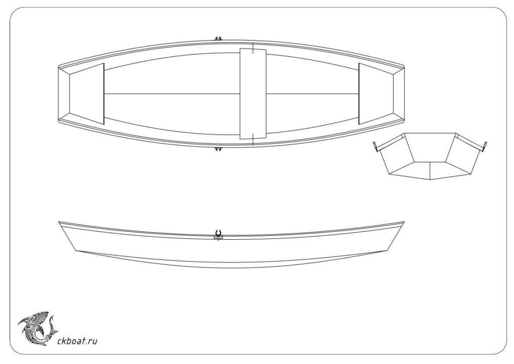 Самодельная лодка для рыбалки Пирога 38