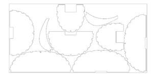 Секции стапеля на стандартном листе фанеры