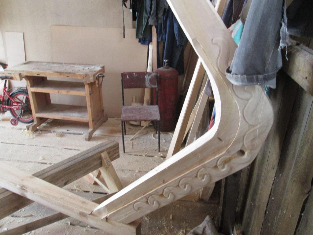 Лодка деревянная Кижанка форштевень