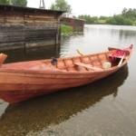 Деревянная лодка Кижанка