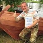 Деревянная лодка Кижанка. Мастер П.Долгих