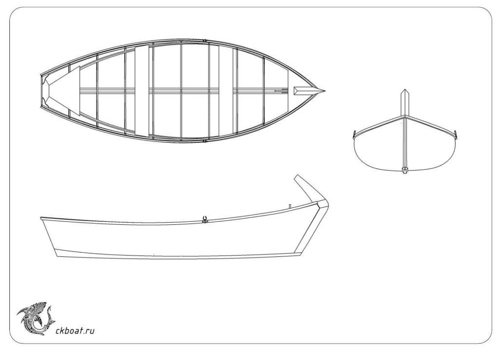Деревянная лодка Салма 5