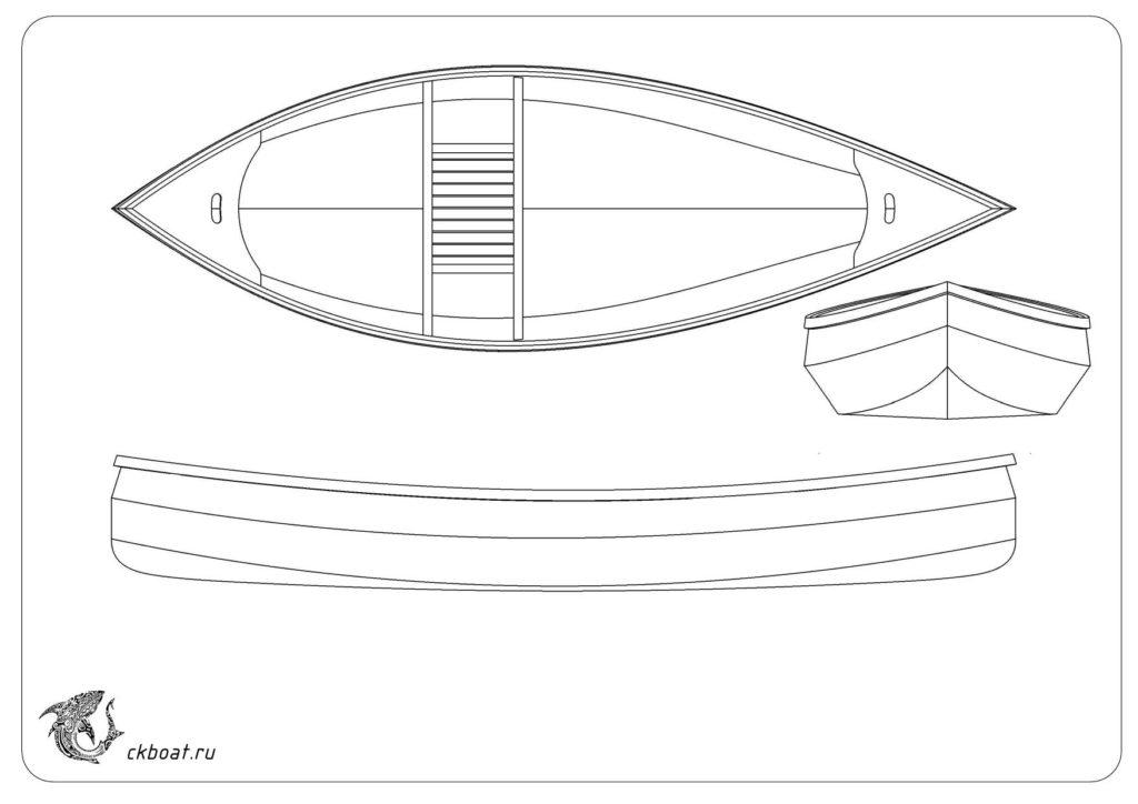 чертеж лодки из фанеры своими руками
