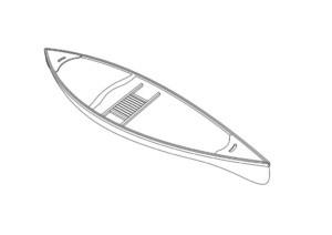 каноэ для рыбалки чертеж