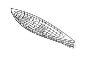 каркас лодки чертеж
