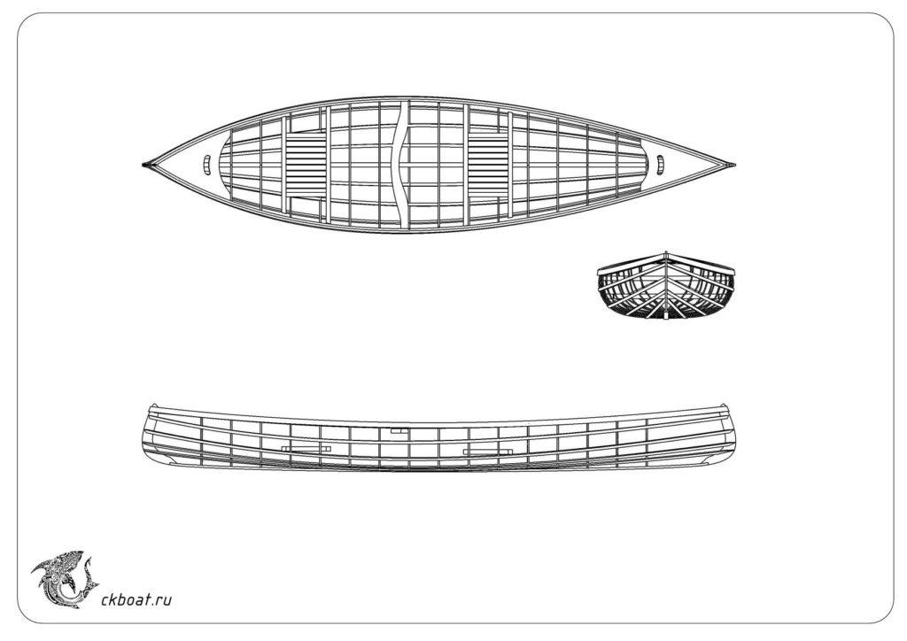 Каркас лодки из рейки чертеж