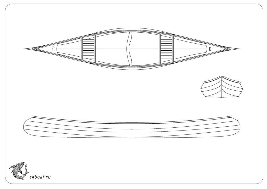 выкройка каноэ из фанеры. Лодка Бузан