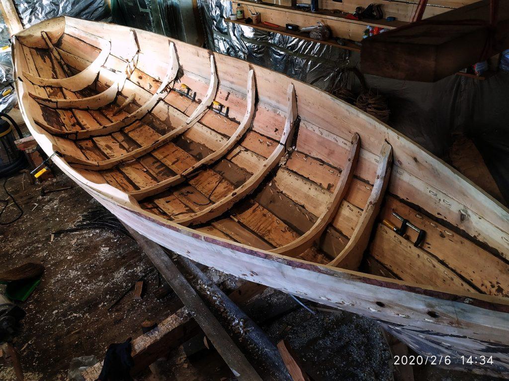 Шитая лодка по старинной технологии