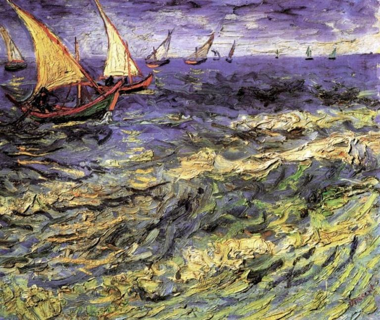 лодки с парусами на картинах