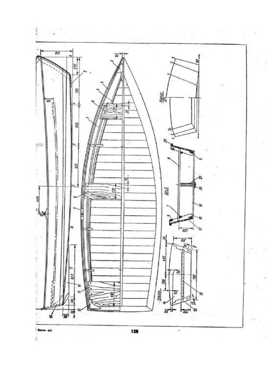 любительская постройка судна, лодка скиф