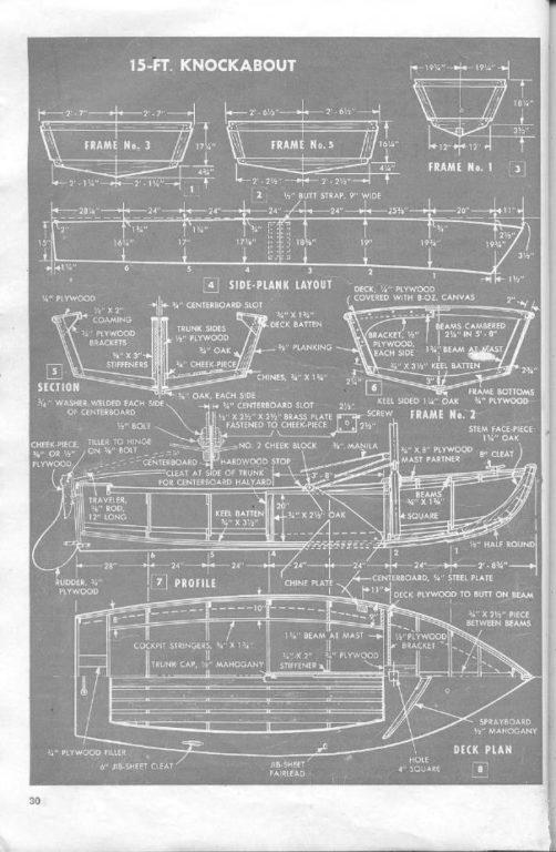 строительство деревянных лодок чертеж