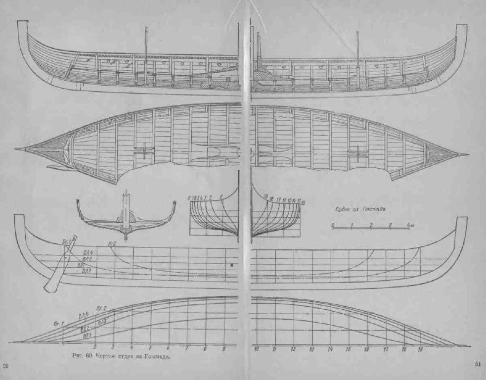 суда викингов чертеж