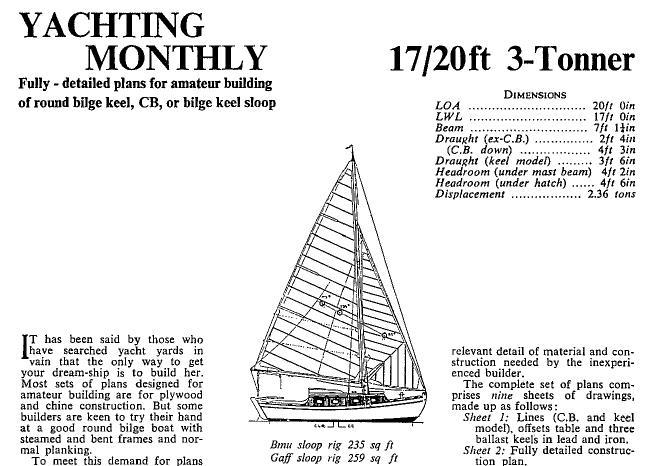 чертеж парусной яхты