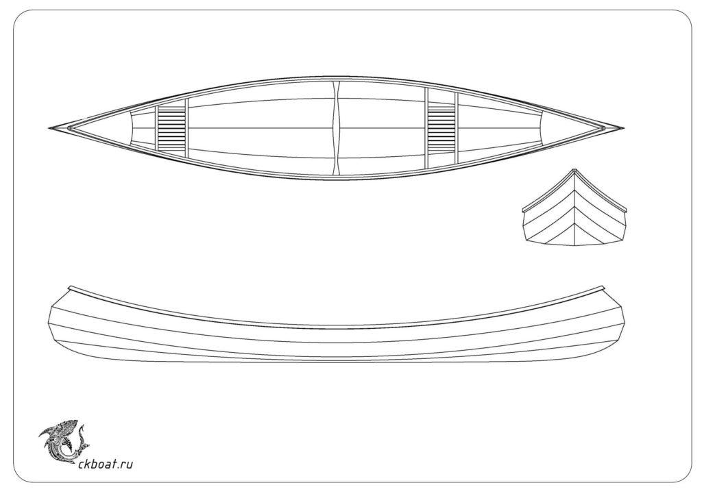 чертежи для постройки каноэ