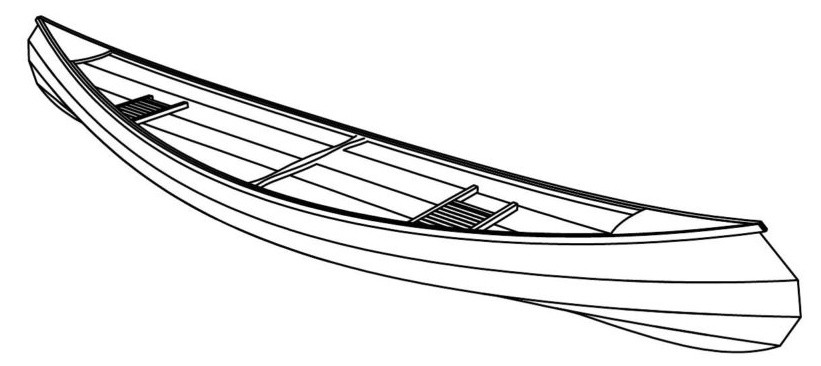чертеж для постройки каноэ