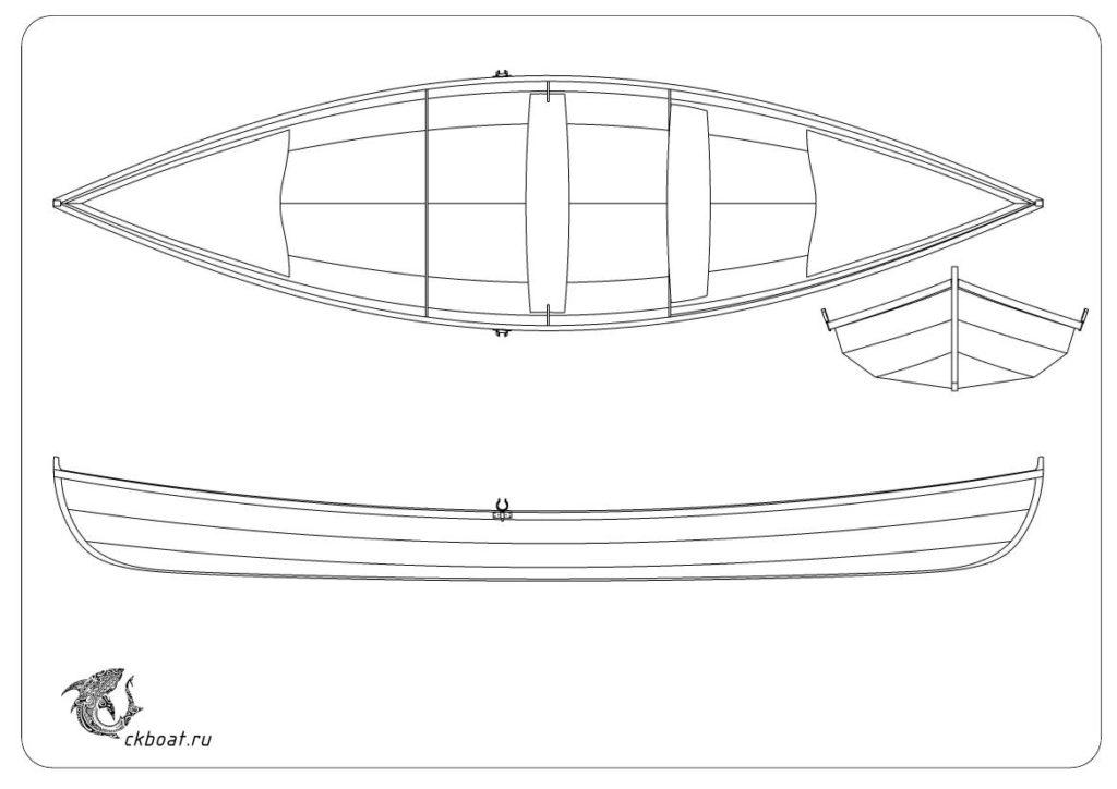 чертежи фанерной лодки