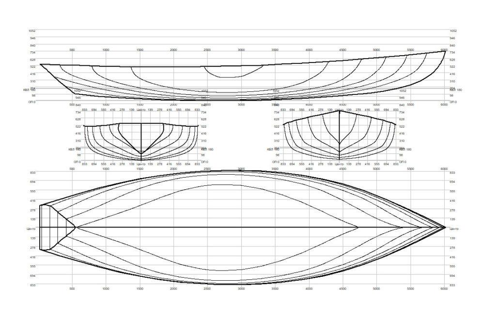 лодка дори теоретический чертеж