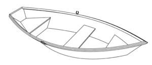 маленькая рыбацкая лодка