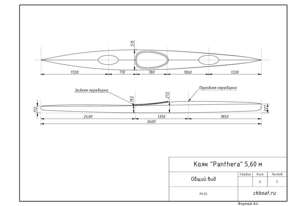 морской каяк чертеж