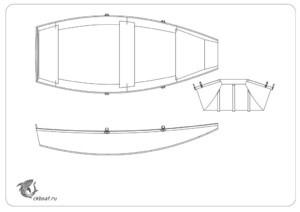 чертеж фанерной лодки
