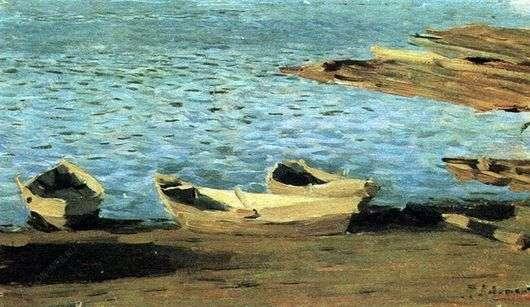лодки в пейзажах Левитана