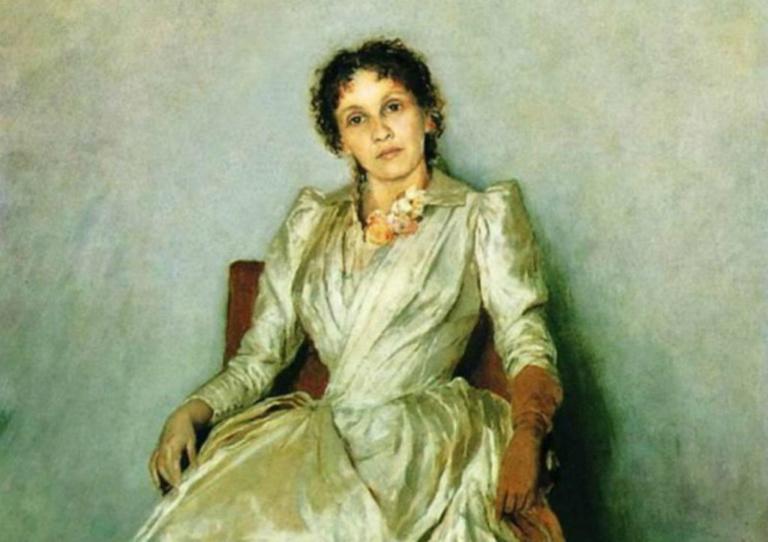 Портрет С.П, Крушинниковой. 1888г.