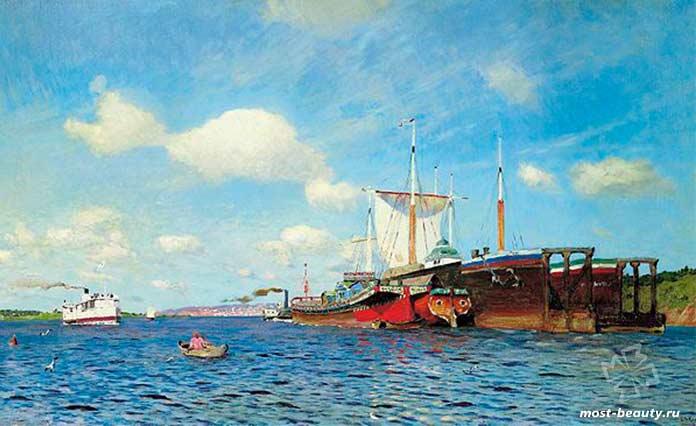 Свежий ветер. Волга. 1895г. Исаак Ильич Левитан 1860-1900гг.