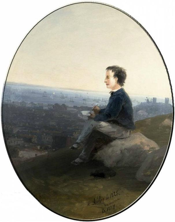 Автопортрет И.К. Айвазовский в детстве, 1887г.