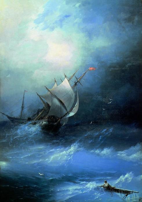 Буря на Ледовитом океане, 1864г