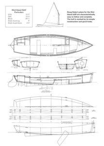 парусная лодка чертеж