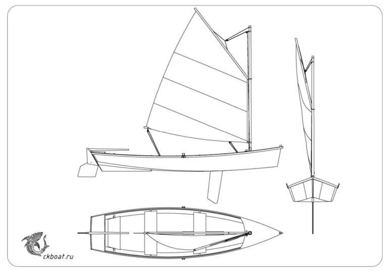 лодка парусная чертеж