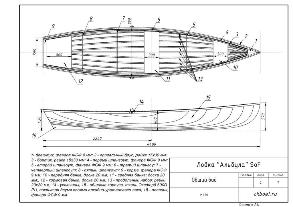 Каркасная лодка Альбула SoF