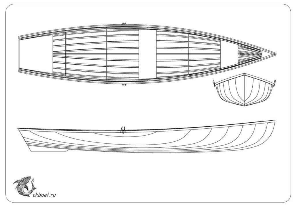 Каркасная лодка