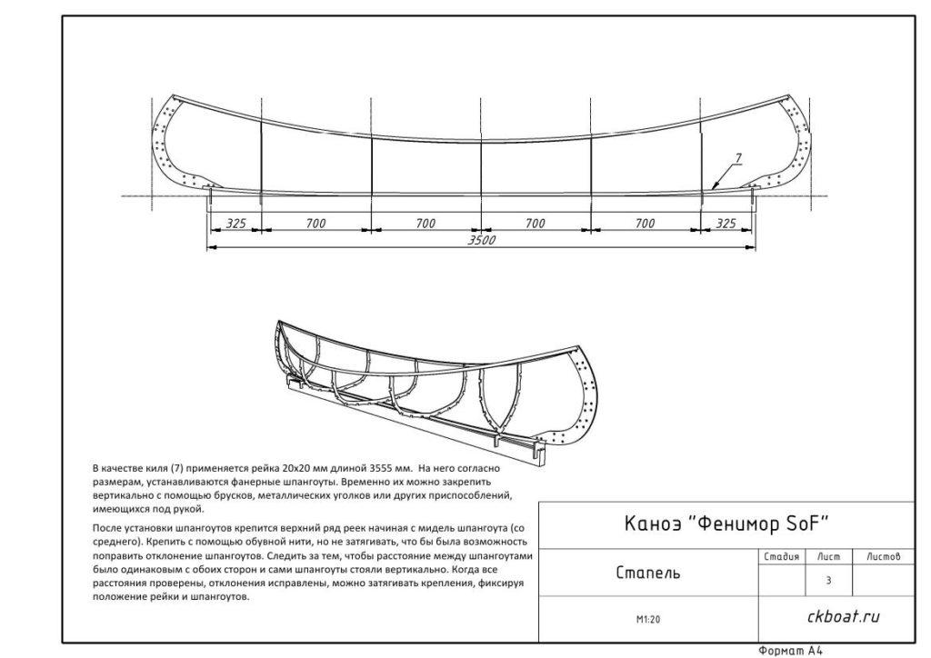 стапель для постройки каноэ